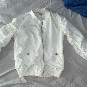 White bomber jacket worn once !